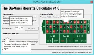 Da-vinci Roulette - The Best Winning Roulette Strategy 2013