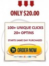 Guaranteed Solo Ads - 100+ Clicks/20+ Optins Guaranteed